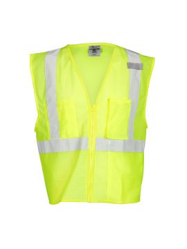 Single Pocket Zipper Mesh Class 2 Vest