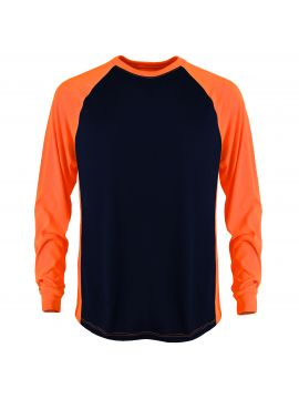 2-Tone Transpiration T-Shirt (Long Sleeve) with GEO cool