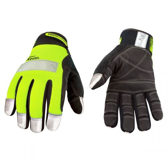 Youngstown Safety Lime Lined with Kevlar Gloves - Cut Resistant