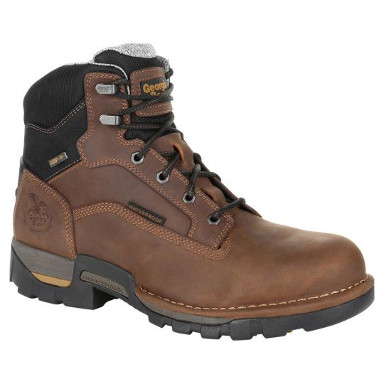 Georgia Boot - Eagle One Waterproof Work Boot EH Soft Toe - Brown