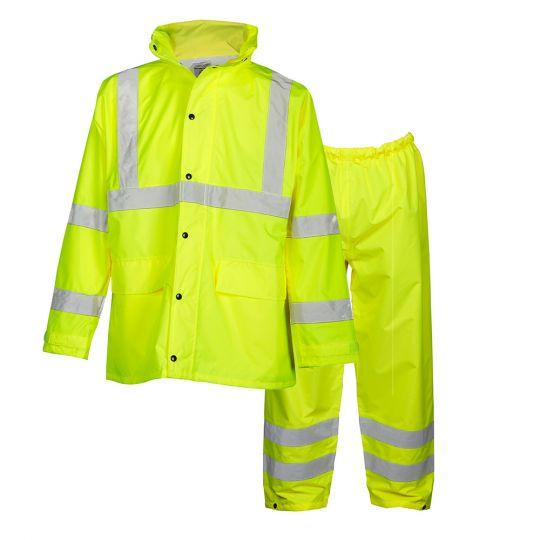 ML Kishigo HVSA Rainwear Set (Class 3 - Jacket, Class E - Pants)