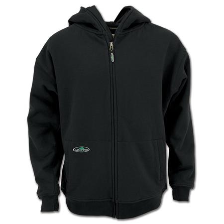 Double Thick Full Zip Sweatshirt - Black