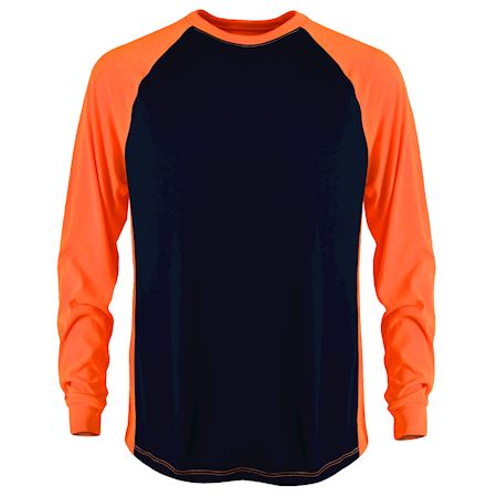 Navy/Safety Ornage 2-Tone Transpiration T LS